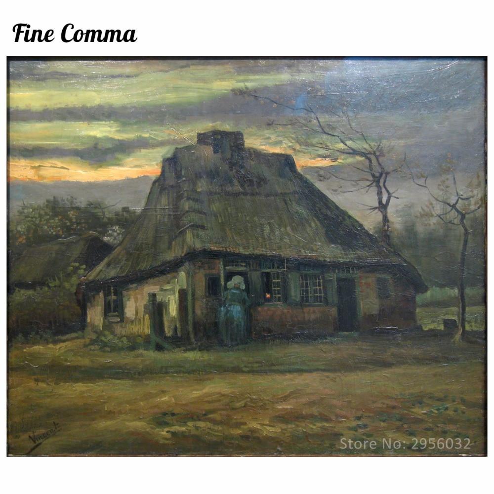Vikendica De Hut 1885. Vincent van Gogh Ručno oslikana slika uljem - Kućni dekor - Foto 1