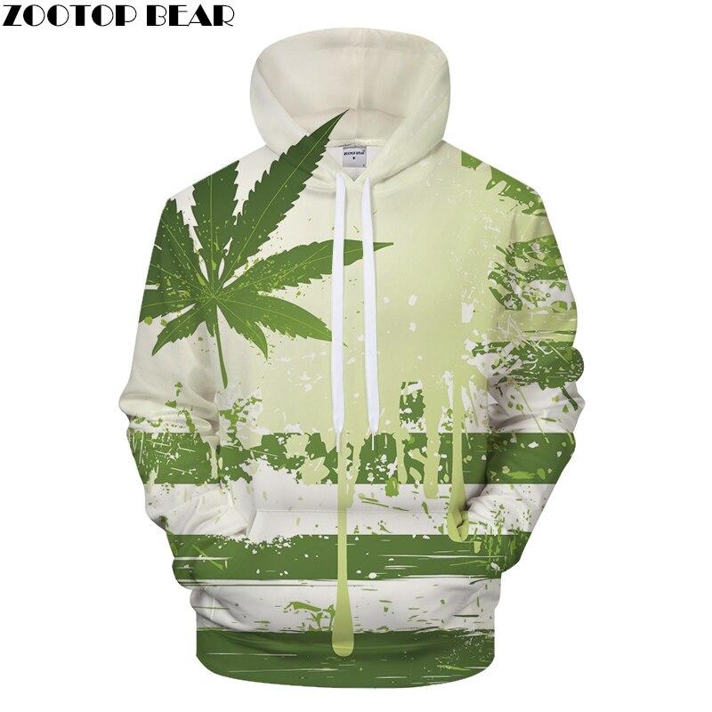 Leaf 3DPrint Hoodies Men Casual Sweatshirt BrandTracksuit Pullover Coat Unisex Hoodie Streatwear Small Fresh DropShip ZOOTOPBEAR