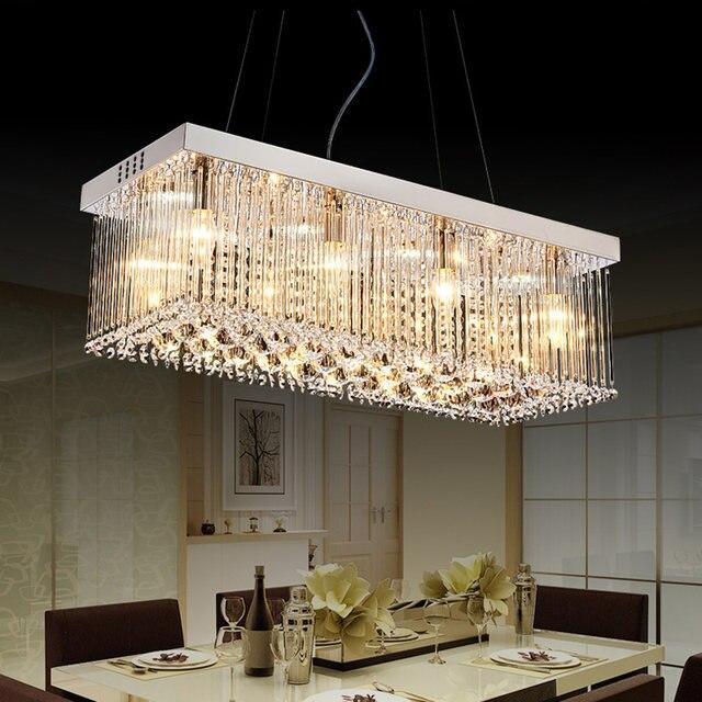 Online Shop Moderne LED Kroonluchters Licht Rechthoekige Kristallen ...