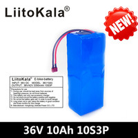 LiitoKala 36V 10Ah 500W High power∩acity 42V 18650 lithium battery pack ebike electric car bicycle motor scooter with BMS