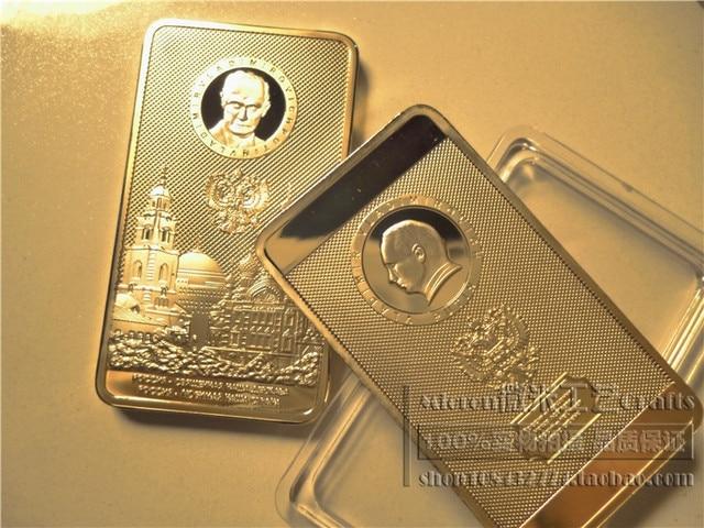 Russian Presiden Vladimir Putin Kremlin Russian Berlapis Emas Koin