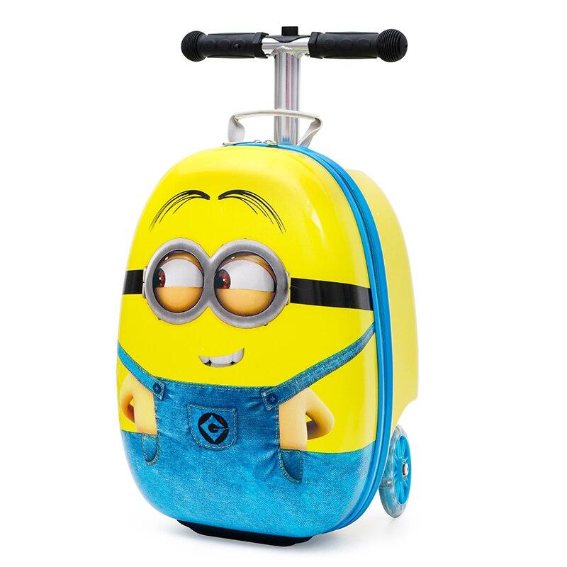 Новый милый детский маленький чемодан для скутера, сумка на колесиках, Детская сумка для переноски, дорожная сумка на колесиках, Детская подарочная коробка - 4