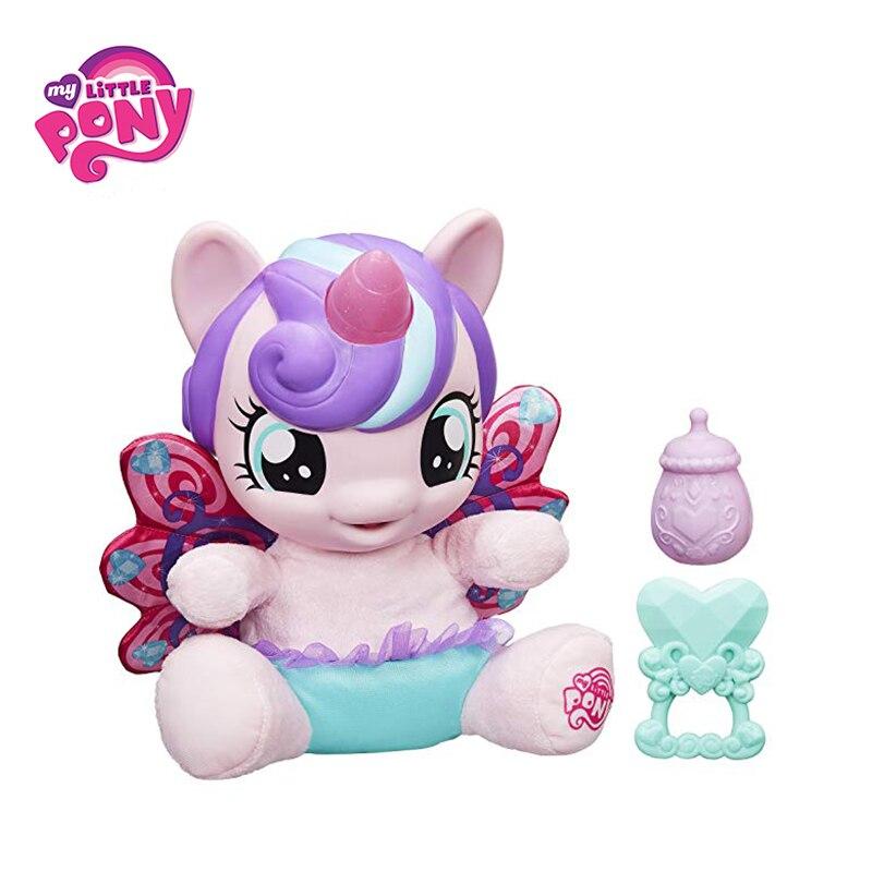 Mon Petit Poney Bébé Vague Coeur Poney Figure Film & TV Peluches Chant Clignotant Licorne Poney Pour cadeau de noël