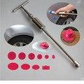 Heavy Duty cola PDR puxando martelo deslizante Auto Dent Reparação Dent Dent Extrator removedor-2em1 Alta qualidade Martelo com 10 pc cola tab