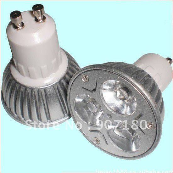 1.DHL Free shipping  high power LED lamp dimmable E27 GU 10 3W,AC220V/AC110V,warm white,cool white GU10 3W LED BULB 330LM