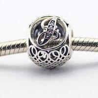 Fits Brand Bracelets Beads for Jewelry Making DIY Sterling-Silver-JEWELRY Vintage J Bead Clear CZ Charms Kralen