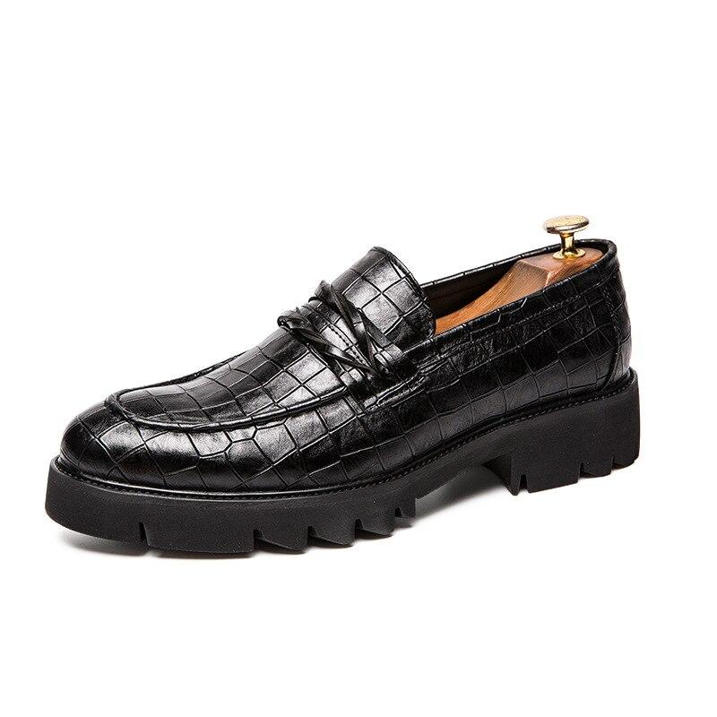 Homem Homens De Da Casamento Masculinos Primavera Calçados Britânico Dos Clássicos Casuais Fit Festa Novos Outono Brown Oxfords Sapatos Inverno black Oxfords Sapato Flats IqwP7zx0C