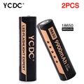 De larga Duración 2 Unids Células Recargable 18650 Baterías de Portátiles 3.7 V Alto Volumen 9900 mAh Alta Capacidad + Venta Caliente Durable Venta