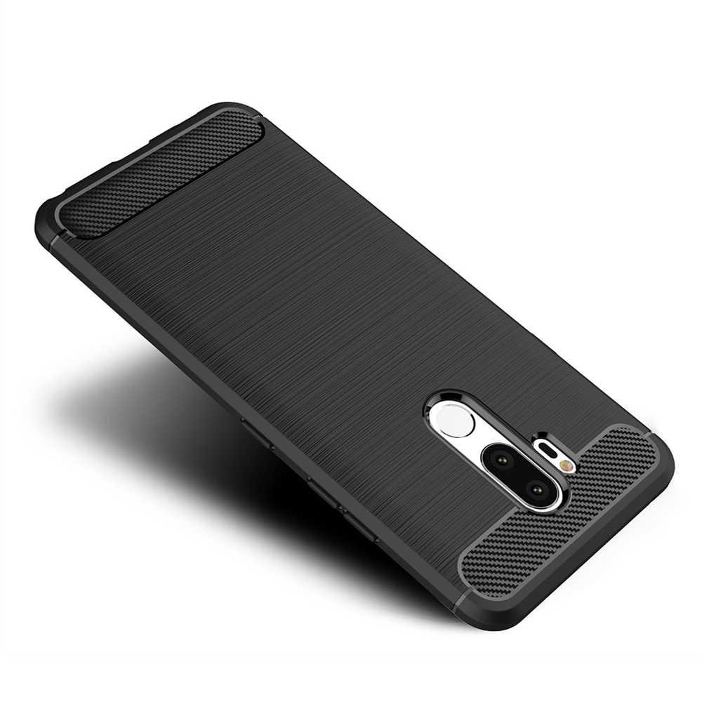 حقيبة لجهاز LG K9 K8 Stylo 4 G7 G6 Q6 Q7 V30 V30S V40 Q ستايلس K10 2018 صدمات ألياف الكربون غطاء إطار هاتف محمول قذيفة كابا