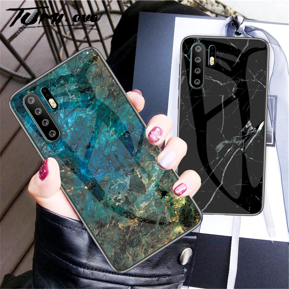 Marble Tempered <font><b>Glass</b></font> Edge Soft Silicone <font><b>Case</b></font> For <font><b>Huawei</b></font> P9 Plus <font><b>P10</b></font> Lite P20 Pro P30 Nova 3 3i 3e 4 Mate 9 10 20 Lite P Smart image
