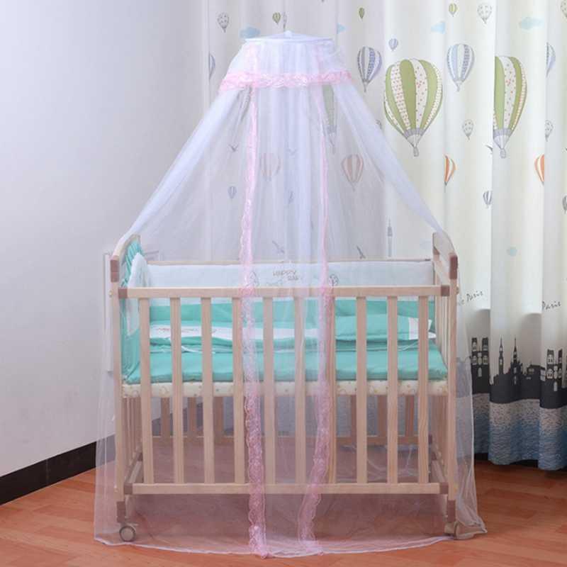 Детская противомоскитная сетка складной легкий Королевский корт принцесса москитная кровать навесной чехол с кружевом для детской кроватки