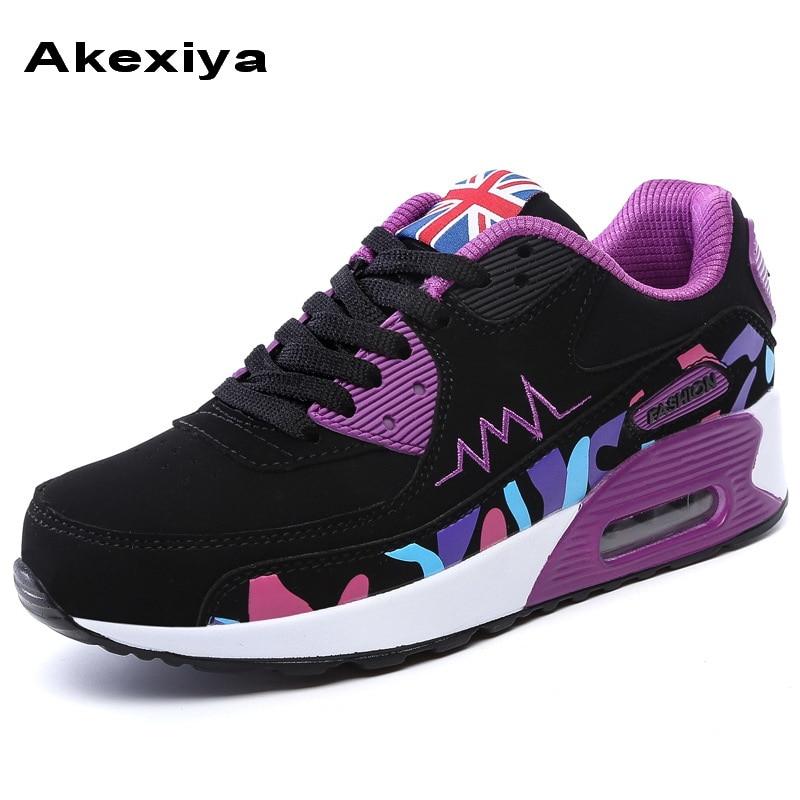 Prix pour Akexiya Nouvelle Annonce Printemps Automne Sport air sneakers bas classique de femmes Respirant sport chaussures tenis masculino esportivo