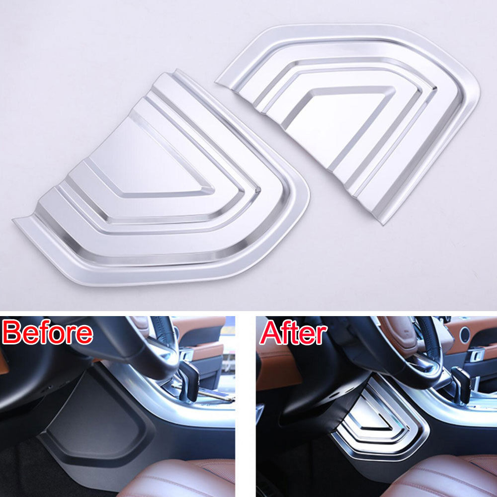 BBQ@FUKA 2pcs ABS Car Console Center Left/ Right Cover Panel Trim automobiles For land rover Range Rover Sport 2014-2017 bellows front right left 2nd generation air suspension spring for land rover range rover 2 1994 2002 p38 gerneration ii