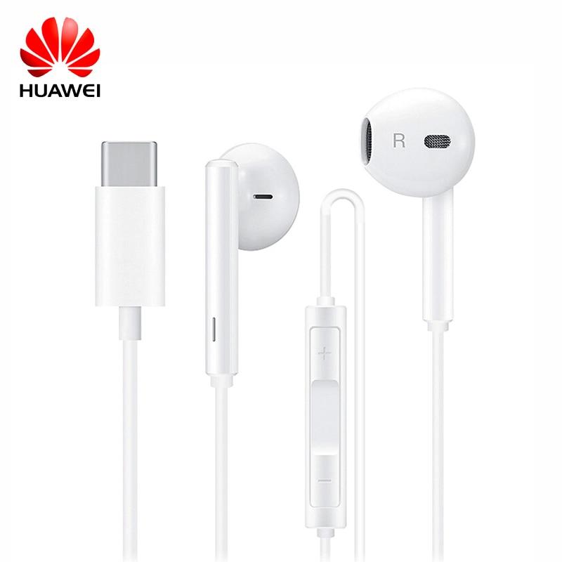 Original Huawei Honor USB Type-C Earphones with Mic In-Ear earphone for Huawei Mate 10 / Mate 10 Pro Honor 9 Smartphones CM33 huawei mate 9 mha al00 6gb 128gb smartphone champagne gold
