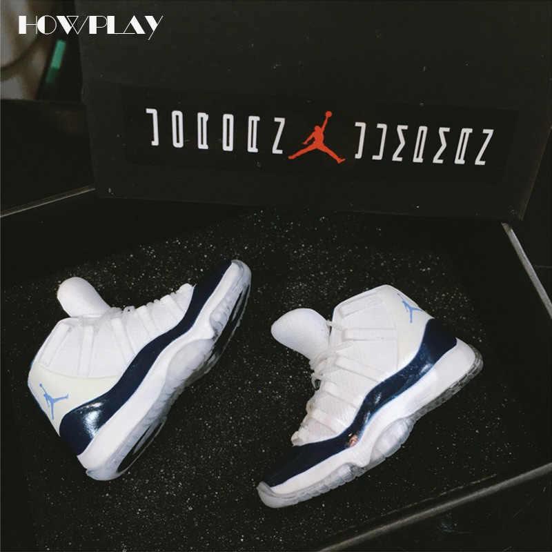 HowPlay Jordan 11 Basketball Shoes Model Three-dimensional Keychain Backpack  Pendant Soldier Shoes Creative Gift cee8e2bc3cf90