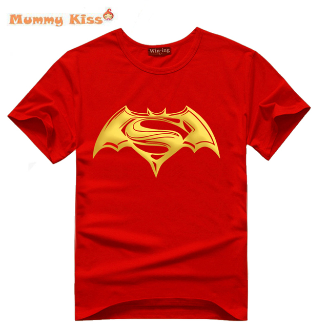 New Batman Superman Big Boys Girls Shirts Super Movies Youngster T-shirts Cool Dawn Justice Noctilucent Teenager Tees  tyh-70593