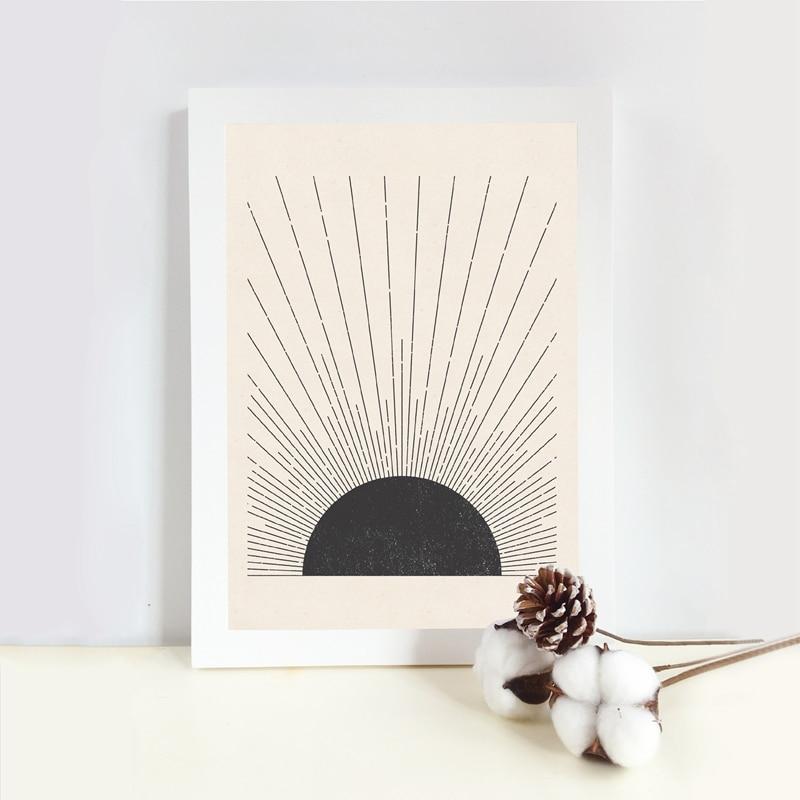 Sun Illustration Poster Home Decor