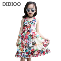 Kids Layered Dresses For Girls Sundress Sleeveless Chiffon Girls Dresses Summer 2017 Floral Dress 2 3