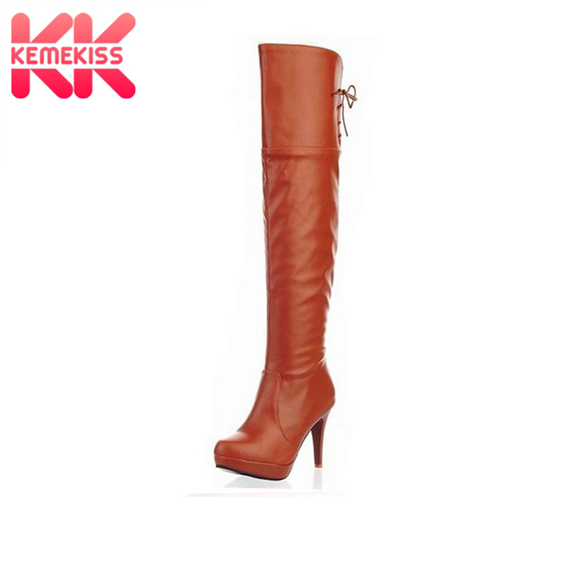 KemeKiss Free shipping knee boots women fashion snow winter footwear high heel shoes sexy warm long boot P8280 EUR size 33-43 free shipping 95 97 id 108672 108962 size eur 40 46