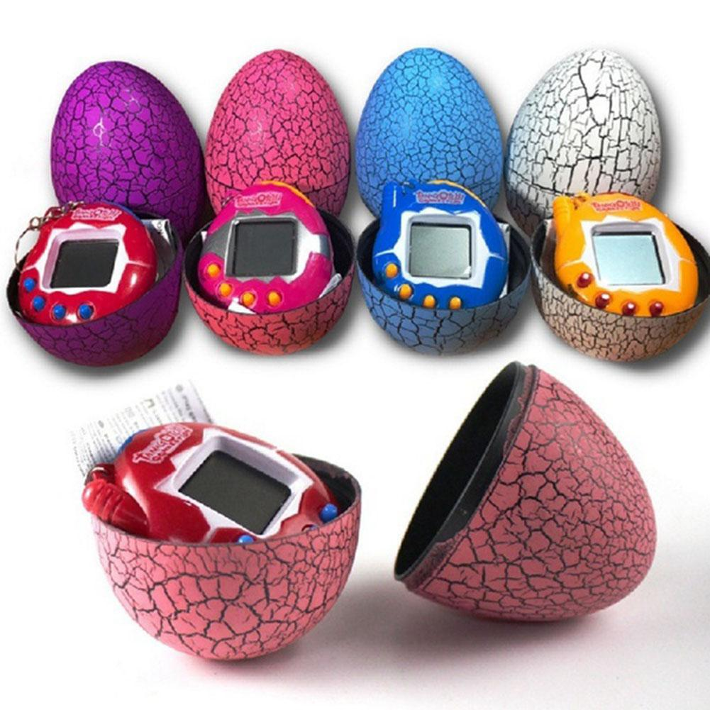 Kids Electronic Virtual Pet Machine E-pet Dinosaur Egg Toys Cracked Eggs Cultivate Game Machine For Children Boy Girls