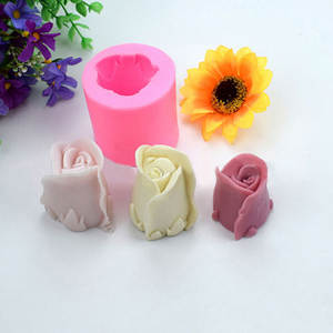 1PC 3D Rose Flower Form Cake Silicone Molds Cookie Cutter Soap Fondant Confeitaria Moulds Kitchen Pastry Cake Decorating Tools