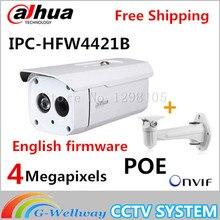 Original Dahua with bracket DH-IPC-HFW4421B 4MP HD WDR Network LXIR Bullet Camera CCTV IP IPC-HFW4421B