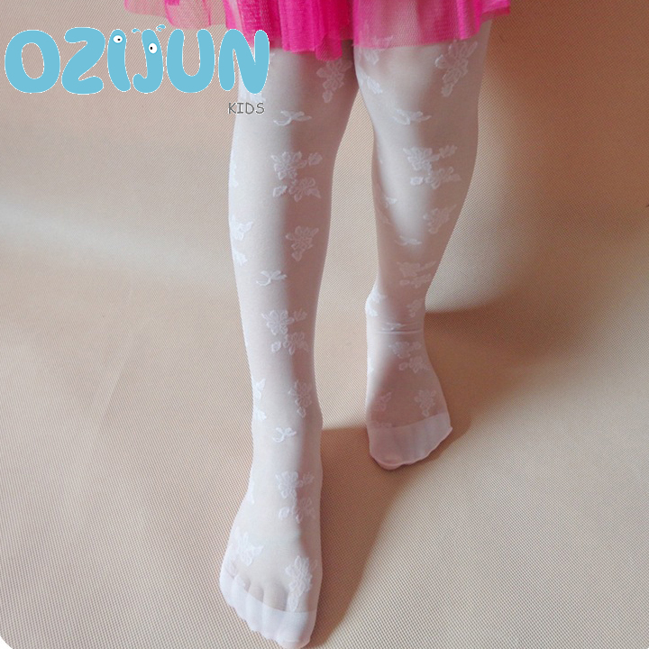 5 Pairs/Lot Summer Kids Girls Tights 3-5Y Transparent Rose Flowers Floral Jacquard Pantyhose Children Stockings For Baby Girls