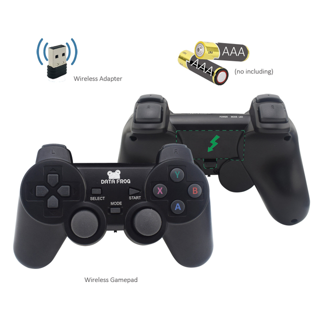 Data Frog Retro Video Game Console With 2.4G Wireless/Wired Gamepads 600 Games For HDMI Family TV  Game Console For GBA/SNES 2