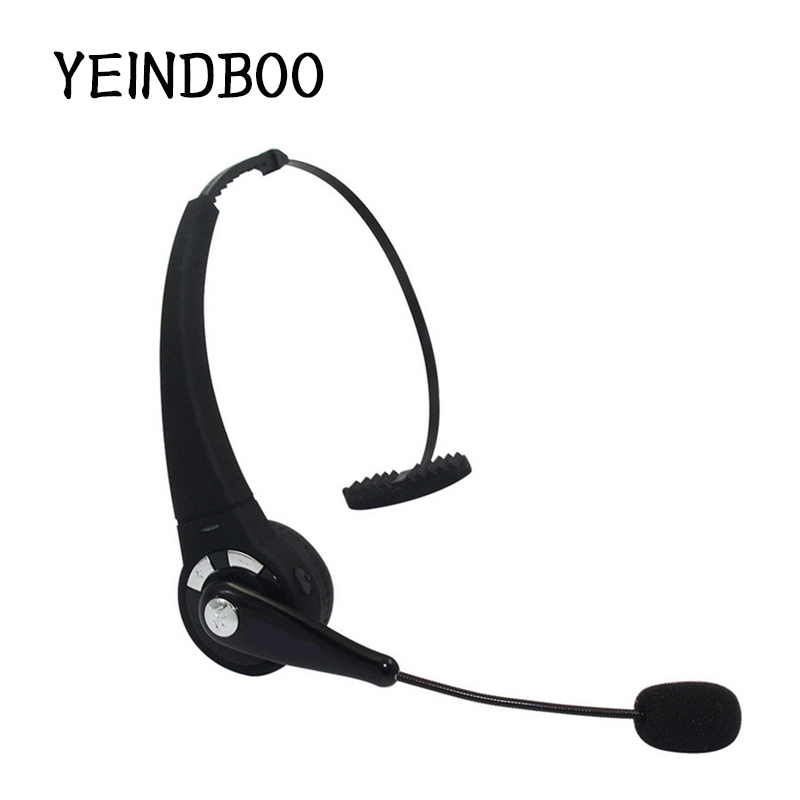 YEINDBOO Bluetooth V4.1 Headset Wireless Bluetooth Car Driver Headset Handsfree Call Noise Canceling Headphone With Microphone