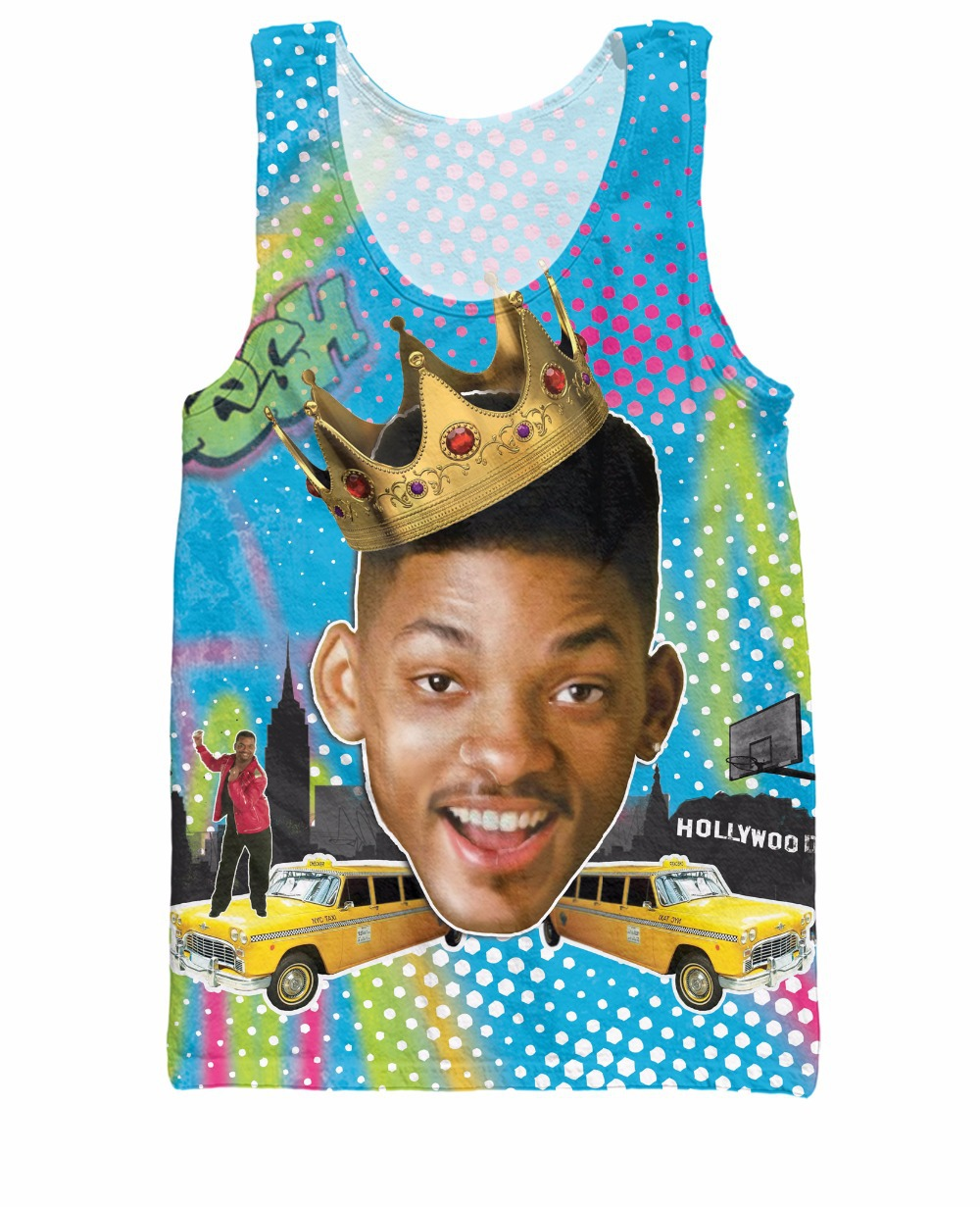 RuiYi Unisex Women Men 3d Shirt So Fresh Will Smith Tank Top the Fresh Prince of Bel Air Summer Style Jersey Vest tee