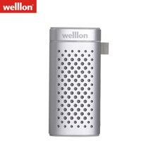 Welllon 2 en 1 En Plein Air Étanche Portable Bluetooth Haut-Parleur avec 5200 mAh Puissance Banque Date Bluetooth 4.2 Sport Haut-parleurs En Métal