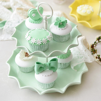 double layers candy color Cake Stand cake plate snack dish tableware dessert plate wedding gift tabletop decoration