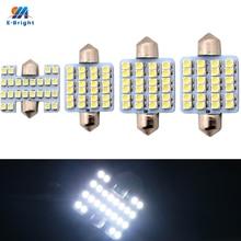 Ym e bright 300 pces 1210 3528 24 smd 24led 31mm/ 36mm/39mm/41mm branco lâmpadas festão dome luz de leitura luz indicadora
