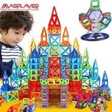 Magplayer 252 шт. Магнитных Блоков Мини Магнитный Конструктор Строительство 3D Модель Магнитные Блоки Обучающие Игрушки Для Детей