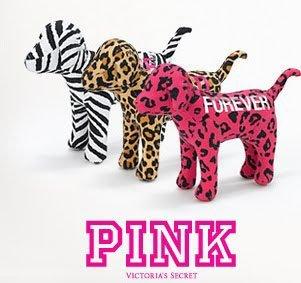 Shipping Free Victoria's Secret Pink Mini Dog Leopard yellow blue..... Dolls Toys 3pcs/lot