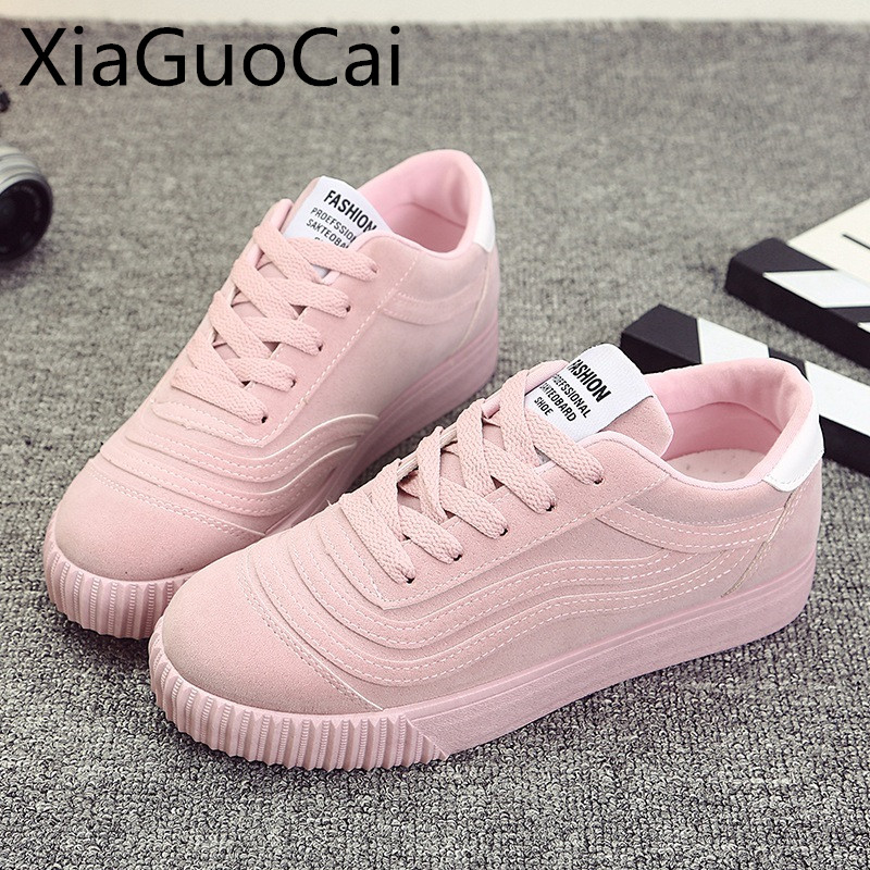 High Quality Womens Casual Shoes Autumn Brand Flats for Gril Lace-up Pink Flats for Ladi ...