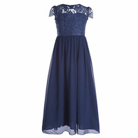 6 15Y Green Blue Big Girls Kids Flower Princess Wedding Prom Party Dress With Girl Short