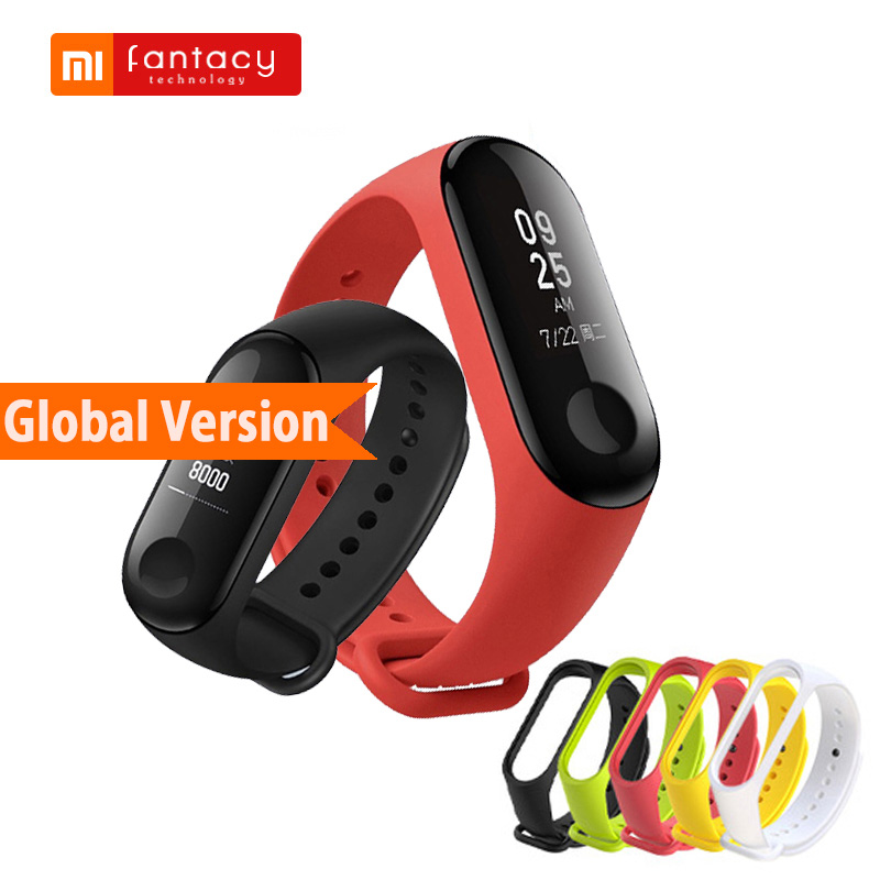 Global Version Xiaomi Mi Band 3 Miband 3 Fitness Tracker OLED Touch Waterproof Smart Bluetooth Band Wristband Bracelet Mi Band 3