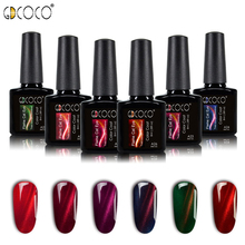 GDCOCO 3D Cat Eye Gel Colors Gel de uñas Polish Soak off UV LED Gel Hybrid barniz Glitter Magnet Gel DIY Lacquer Gellak Base superior