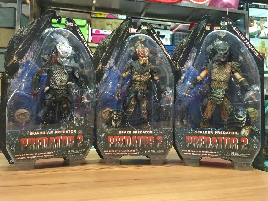 NECA Predators 2 Guardian Predator Snake Predator Stalker Predator PVC Action Figure Collectible Model Toy 7 18cm KT2142 neca a nightmare on elm street 3 dream warriors pvc action figure collectible model toy 7 18cm kt3424