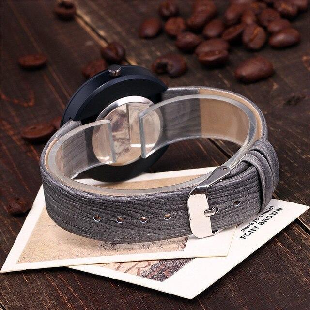 Vansvar Brand Women Wood Watch Luxury Imitation Wooden Watch Vintage Leather Quartz Wood Color Watch Female Simple Clock Hot