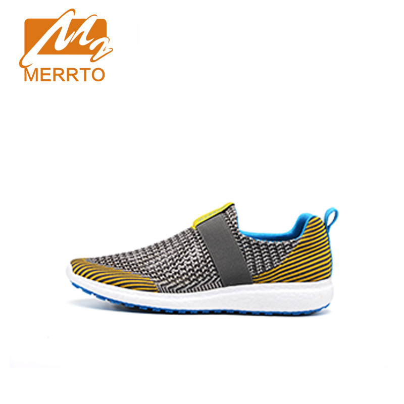 ФОТО MERRTO Running Shoes For Men Running Wave Creation New Style Comfortable Breathable Athletic Mesh Running Shoes#MT18605