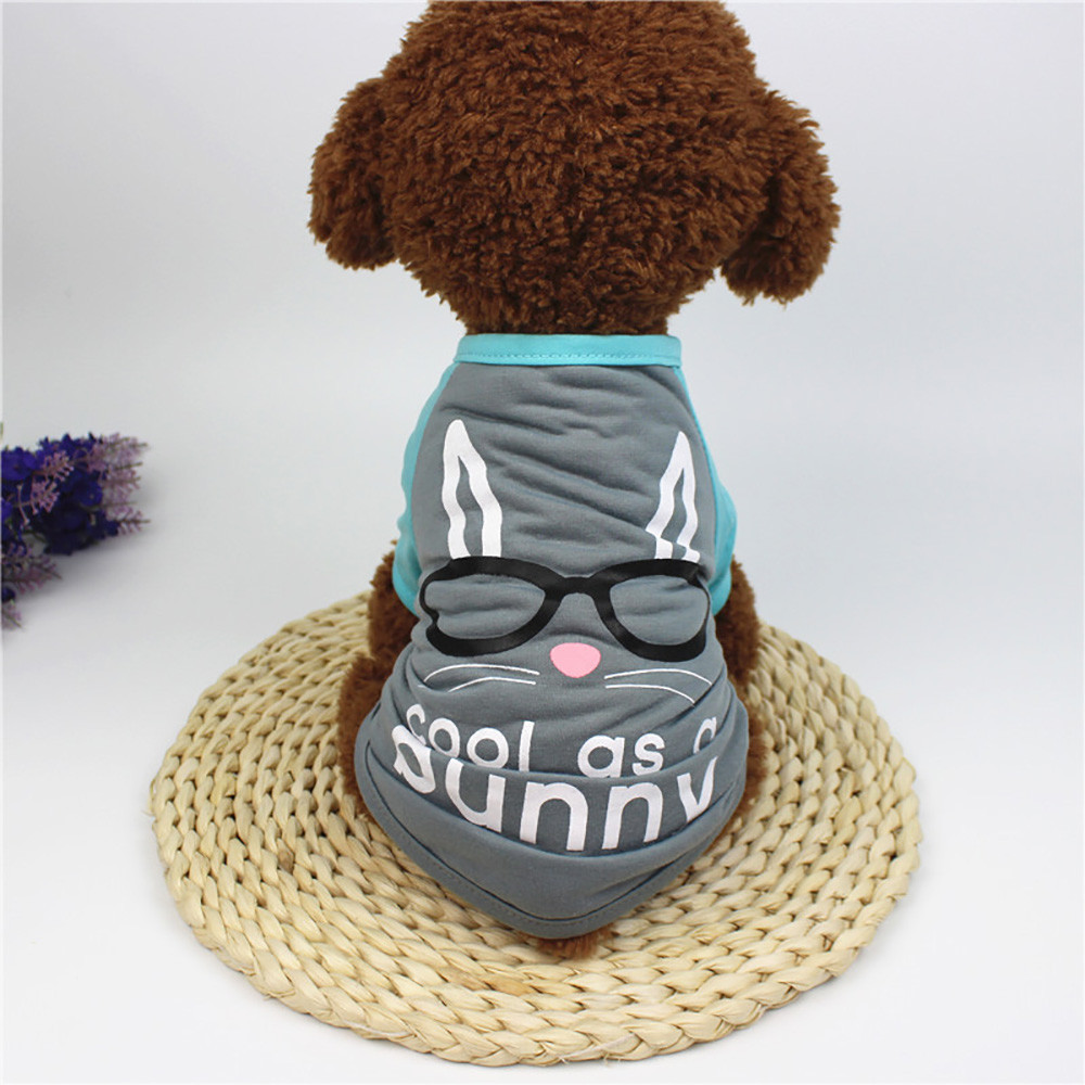 Small Dogs Costume Clothes For Little Dogs Overalls Easter Dog Clothing Polyester T shir ...
