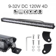 24 Inch 120W 4D Straight LED Driving Lamp 24x  Combo Beam Work Lights for Truck / SUV ATV