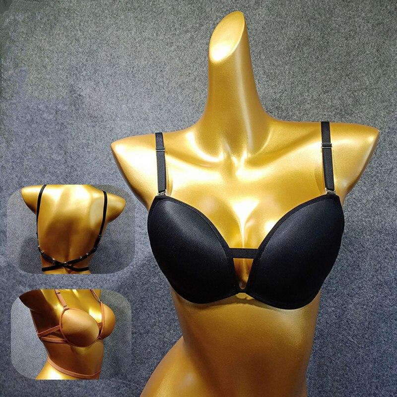 New Female Adult Latin Dance Bra Underwear Adjustable Shoulder Strap Beauty Back Underwear Dual-Use Latin Dance Accessories