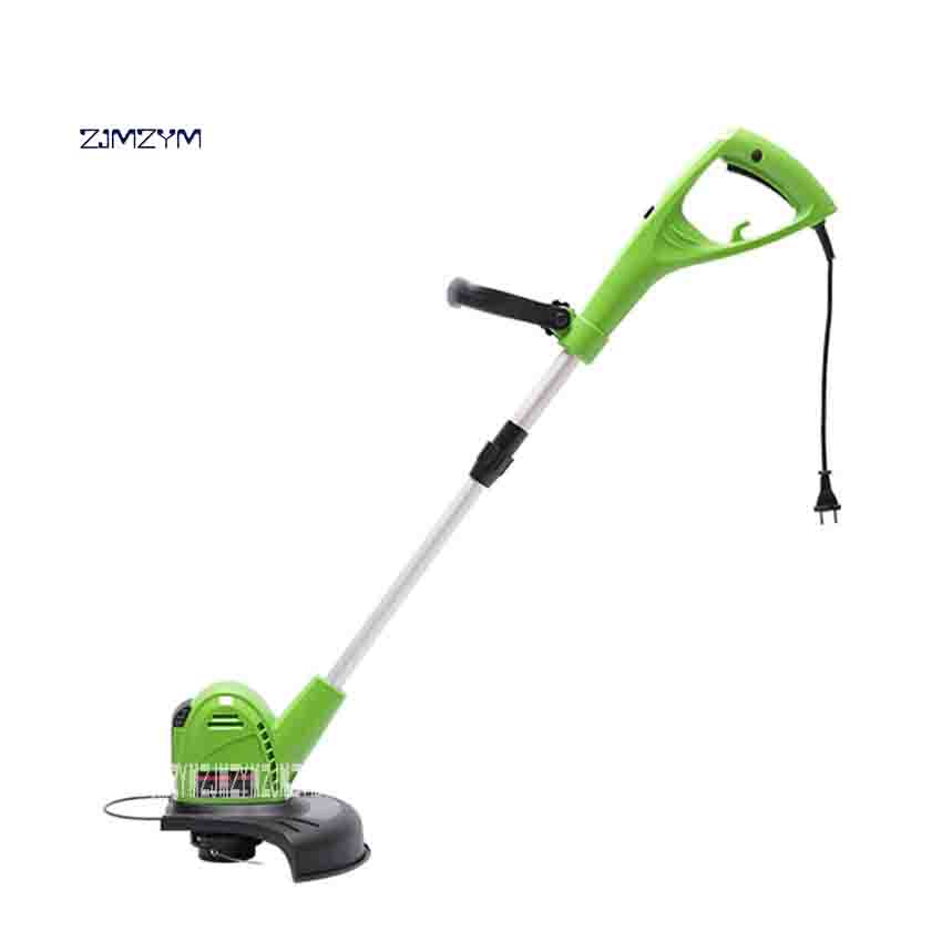 ZJMZYM Home Electric Lawn Mower GT-320 Portable Garden Lawn Mower Weeding Machine 800W 220v/60HZ 8800 rev/min 70-95cm Adjustable new arrival electric home lawn mower et2803 8000 r min electric weeding machine 18v rechargeable lawn mower cutting machine hot