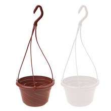 Hanging Flower Plant Pot Chain Basket Planter Holder Home Garden Balcony plant pots String Decoration Wall Art High Quality(China)