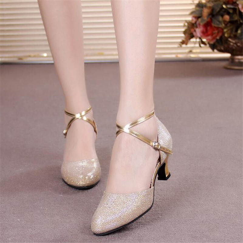 Girls Leather Shoes Female Children Latin Ballroom Dance Shoes Female Kids Dancing Shoes High Heel 3.5/5.5cm Soft Sole