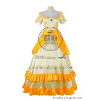 Super Mario Bros Cosplay Princess Daisy Costume Yellow Dress Outfits Fashion Suit Uniform Party Fast Shipping Halloween