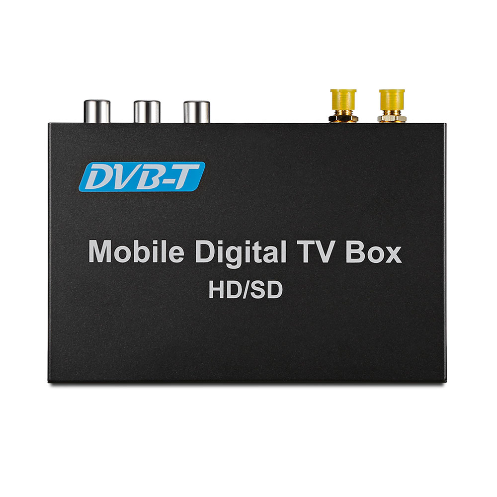 Car DVB-T Mobile Digital TV Box Receiver USB Dual Tunners HD / SD Vehicle TV Receive Auto Radio Car Multimedia Player dvb t isdb digital tv box for our car dvd player